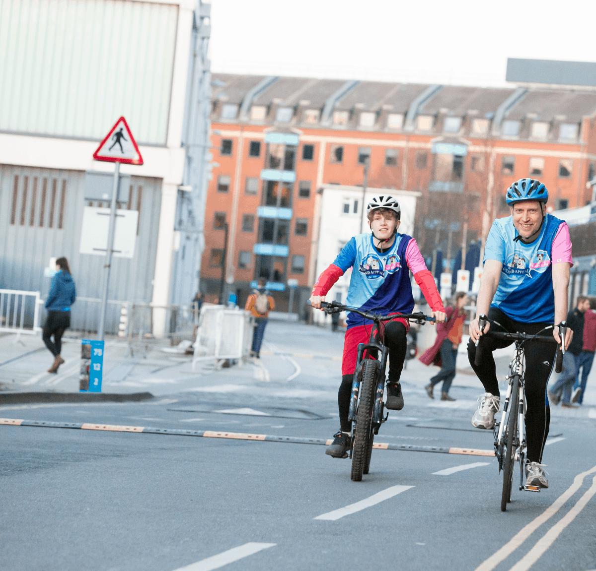 two men cycling